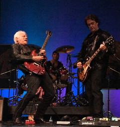 Teddy Rondinelli performs with Amber's band at Theatre Three, Port Jefferson, NY.
