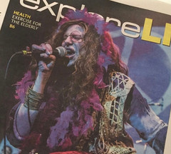 "Amber Ferrari makes cover story of Newsday for her Janis Joplin Tribute Show ""Joplin's Pearl""."