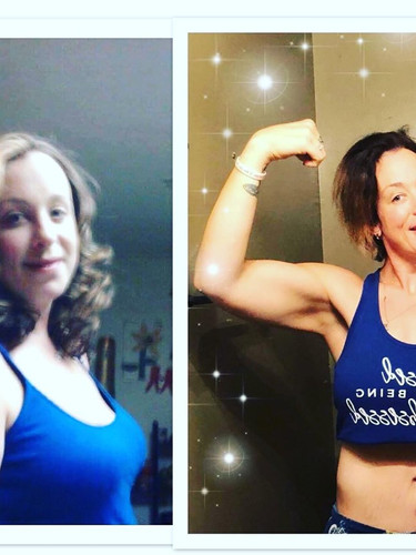Coach Tina's transformation. (Before and After)