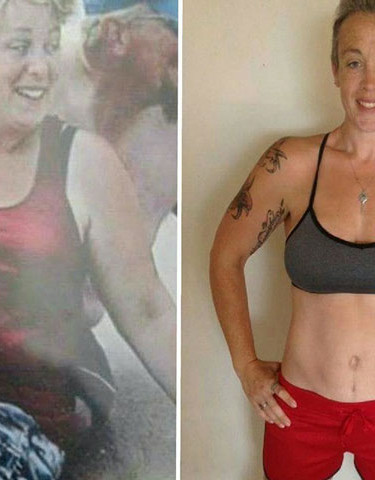 Coach Tina s transformation (Before and After).
