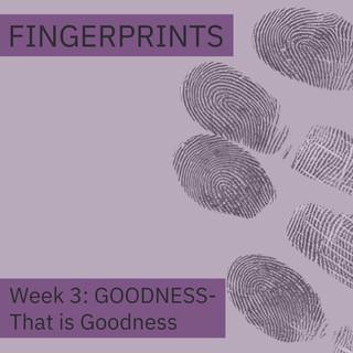Fingerprints Goodness Week 3: That is Goodness