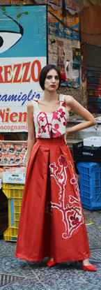 The courage to be Frida   Red gown dress