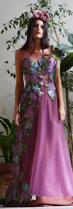 The courage to be Frida   Pink Flower Dress