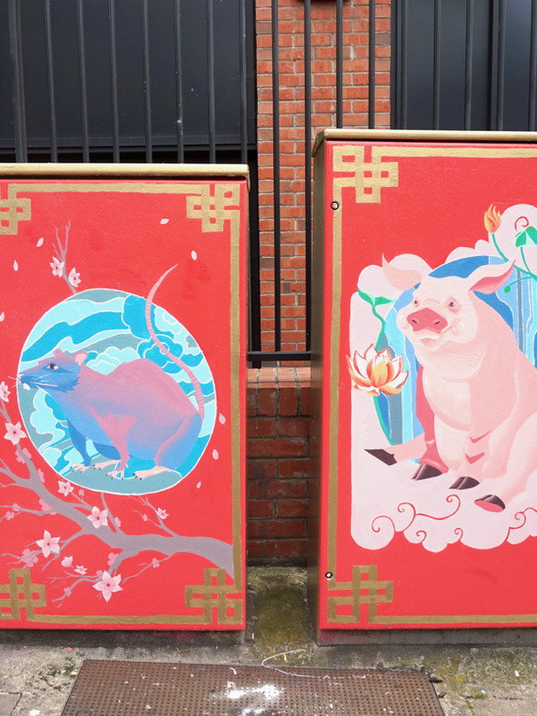 Chinese Zodiac - Rat and Pig