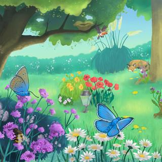 Garden day scene