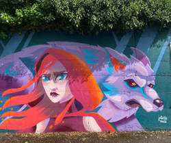 mural for Waterford Walls 2021