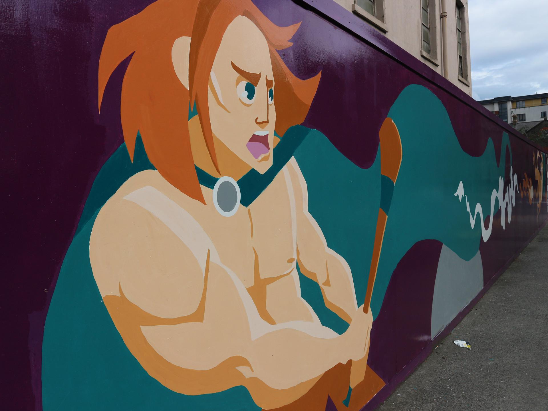 Breith Finscéalta mural