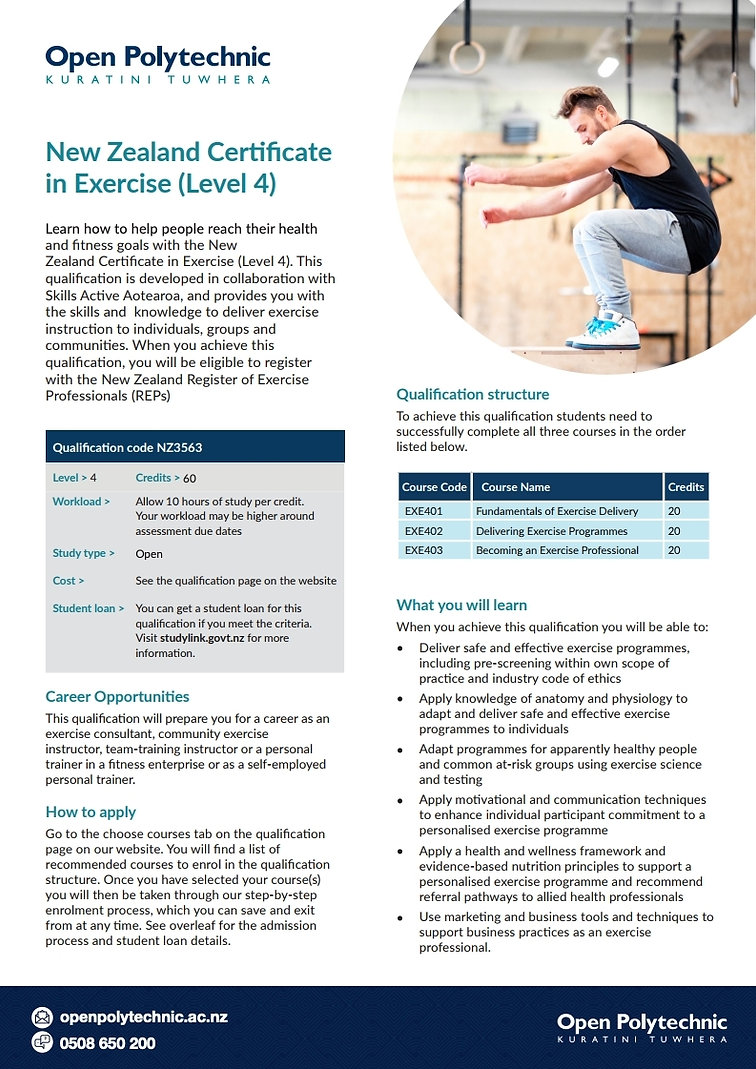 New-Zealand-Certificate-in-Exercise-Leve