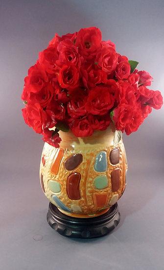 Mosaic Style Vase
