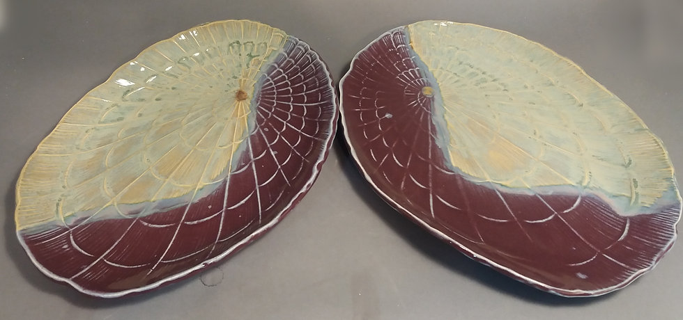 "Pair of Oval ""Shell"" Plates"