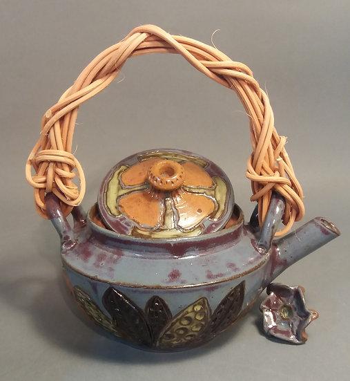 Purple Floral Teapot