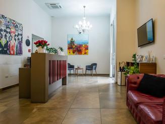 reception e sala d'attesa hotel bruman