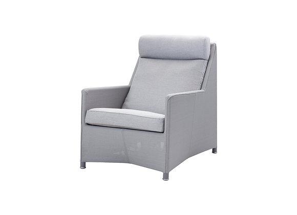 Diamond highback chair, Tex & Cane-line Natté (8403)