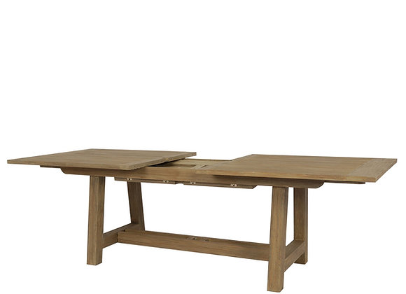 """Teak 39'' x  79""""-118"""" Dining Table With Leaf Extension"""