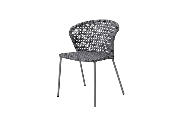 Lean chair, stackable, Cane-line French Weave (5410)