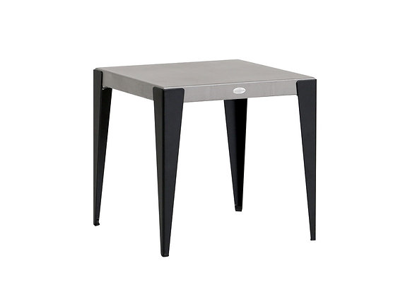 GENVAL END TABLE WALUMINUM TOP