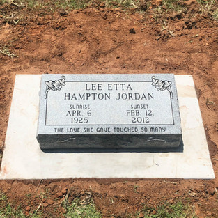 Georgia Gray Headstone MArker