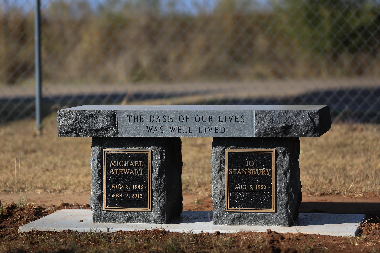 Beautiful Black Cemetery Bench