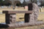 Granite Monument Bench, Gracelawn Cemetery - Edmond, Oklahoma