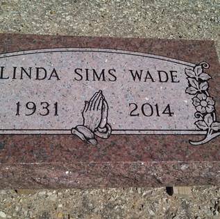 Chapel Rose AKA Oklahoma Red Cemetery Headstone