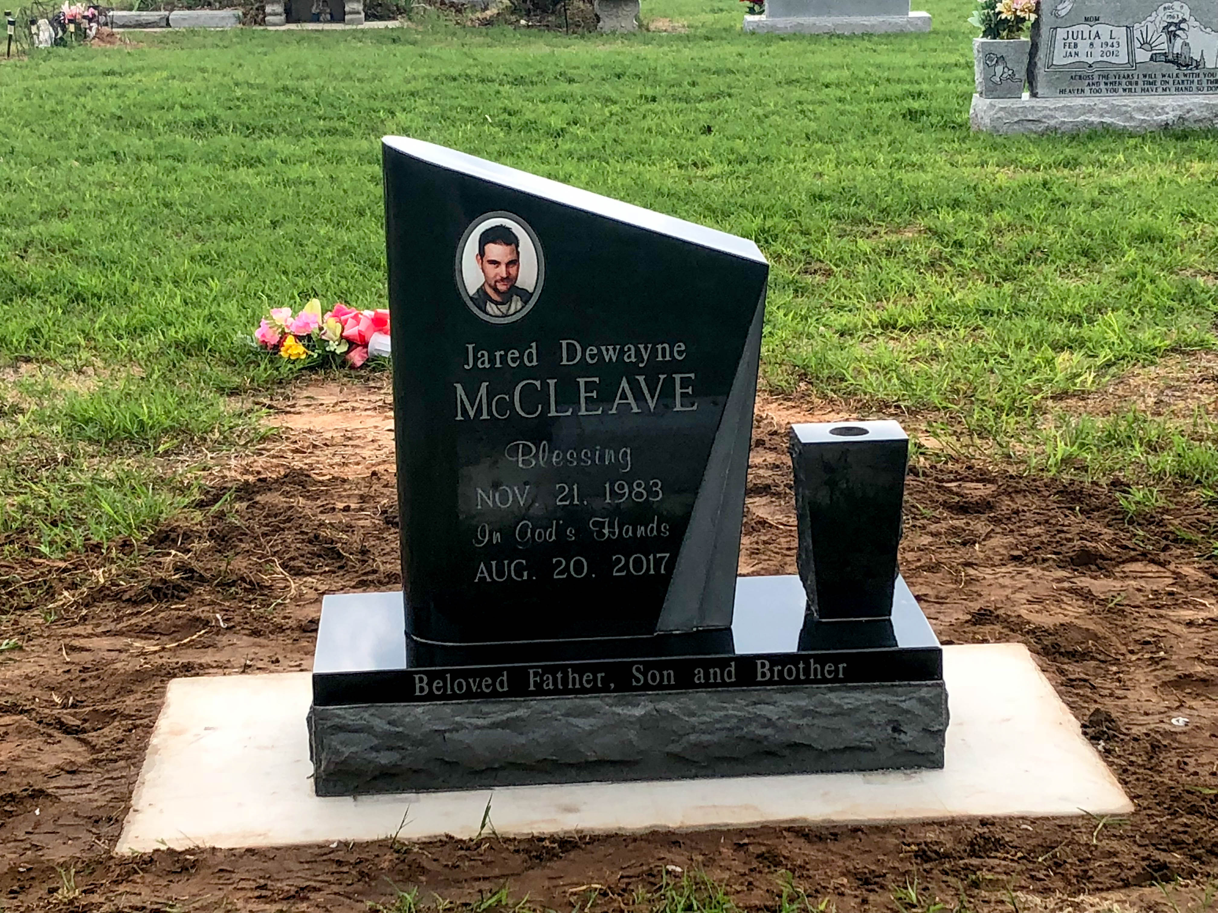 Custom Single Cemetery Headstone