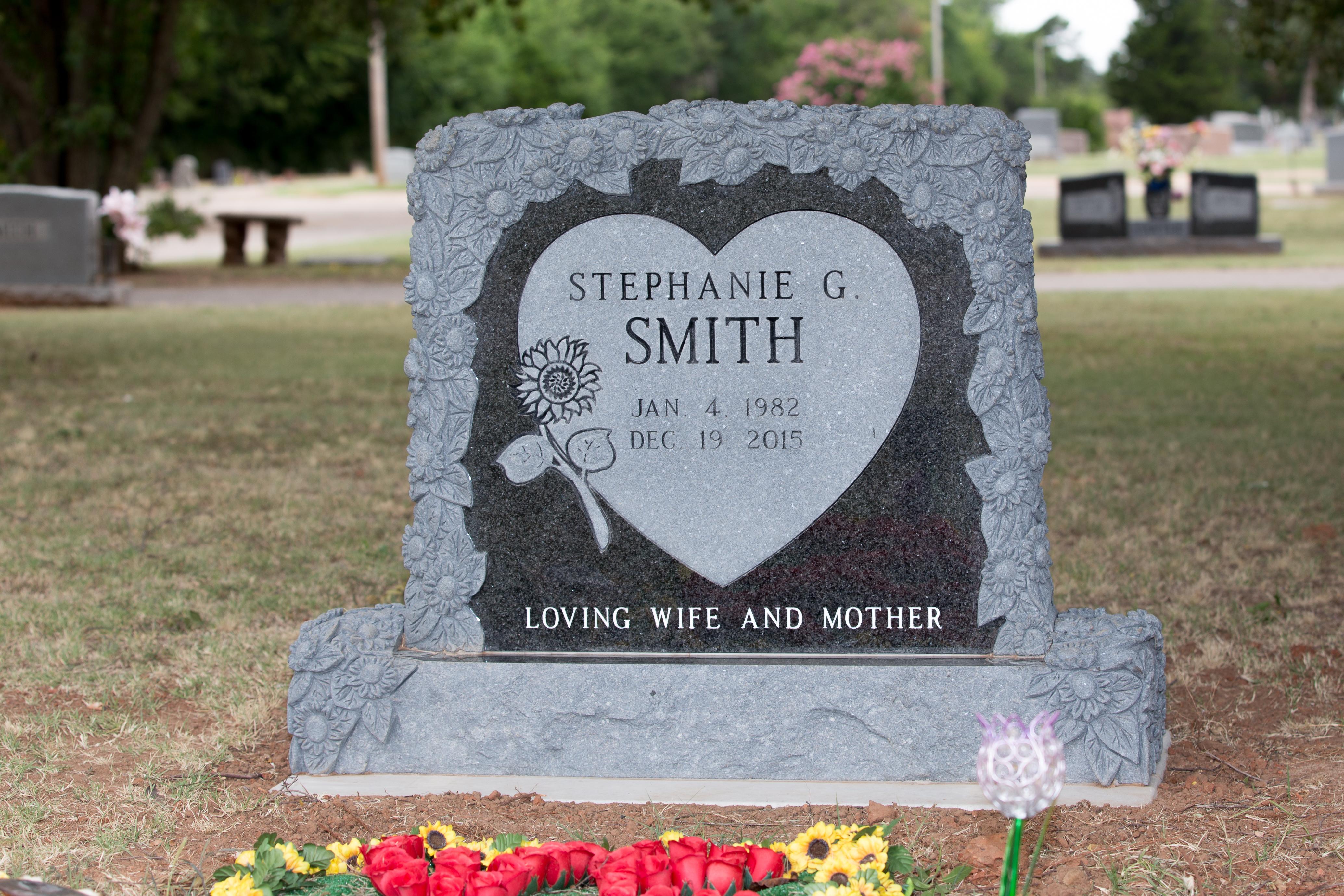 Black SunflowerGranite Headstone