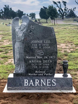 Bahama Blue Cemetery Monument with A