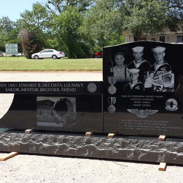 Premium Black Granite Headstone Bench