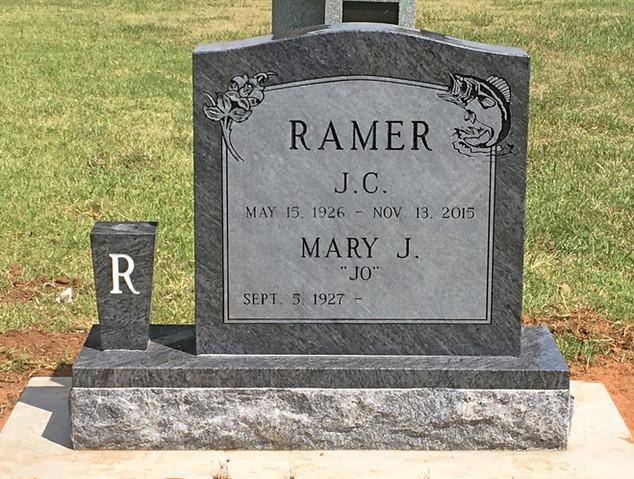 Bahama Blue Granite Cemetery Monument