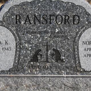 Blue Pearl Granite Cemetery Monument