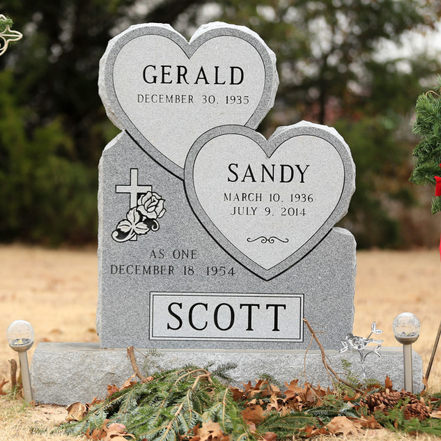 Georgia Gray Headstone - Double Hearts