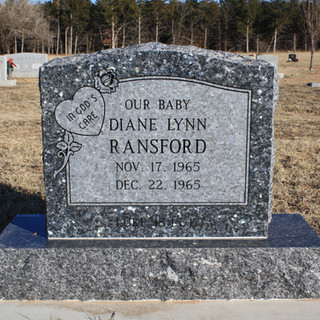 Blue Pearl Granite Cemetery Monument