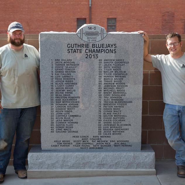 Georgia Gray Granite Plaque