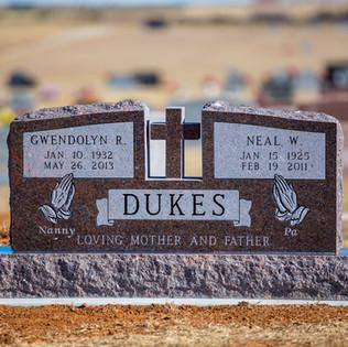 Dakota Mahogany Granite Monument