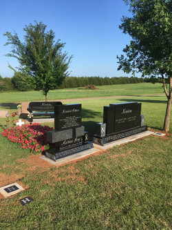 Custom Cemetery Monument Lot