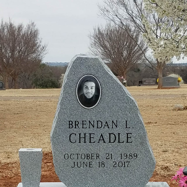 Georgia Gray Headstone - Boulder