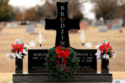 Premium Black Granite Cemetery Cross