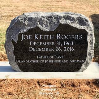 Flash Black Cemetery Headstone