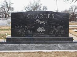American Black Double Cemetery Monum