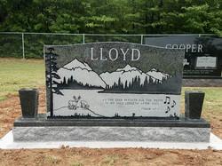 Custom Double Cemetery Monument