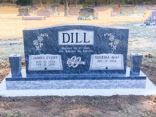 Bahama Blue Cemetery Headstone