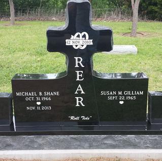 Premium Black Granite Headstone Cross
