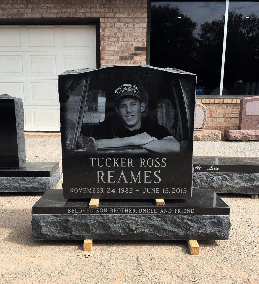 Beautiful Black Cemetery Monument