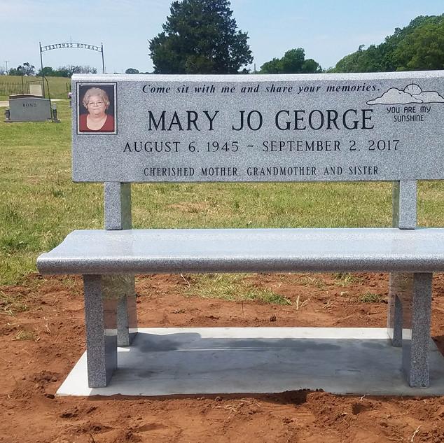 Georgia Gray Headstone Bench