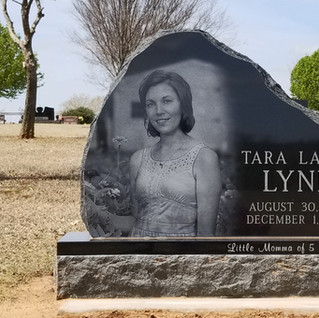 Premium Black Granite Cemetery Headstone