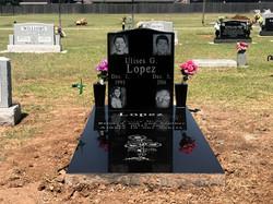 Black Granite Ledger Upright Cemeter