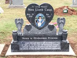 Custom Blue Cemetery Monument