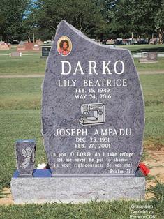 Bahama Blue Granite Cemetery MonumentEdmond, OK