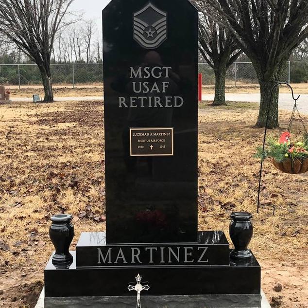 Premium Black Granite Headstone