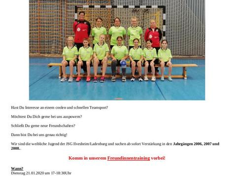 Handball: Freundinnentraining